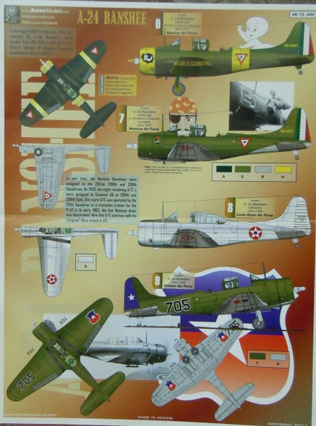 Douglas A-24B Banshee (Dauntless), A-24 Latino Decals