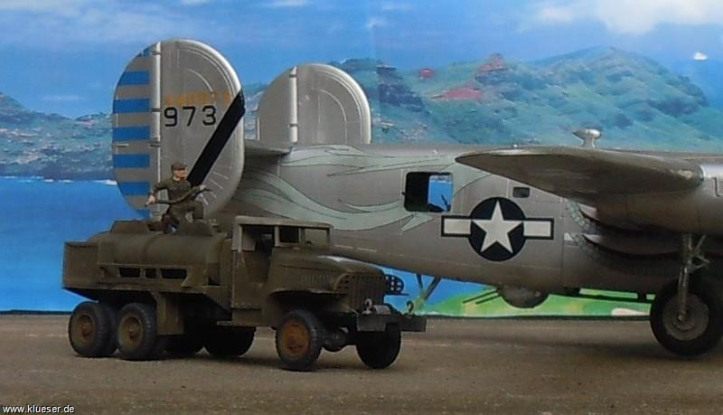 Consolidated B24J The Dragon and his Tail, GMC CCKW-353 Gasoline Tank Truck
