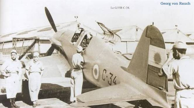 Argentinische Fiat G.55B C-34. Quelle: www.militariarg.com/foreign-aircraft-operated-by-the-argentine-air-force.html