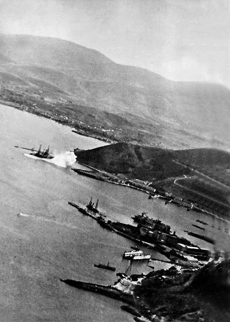 Attack on Salamis by German Dive Bombers. Kilkis and Lemnos in the pic.