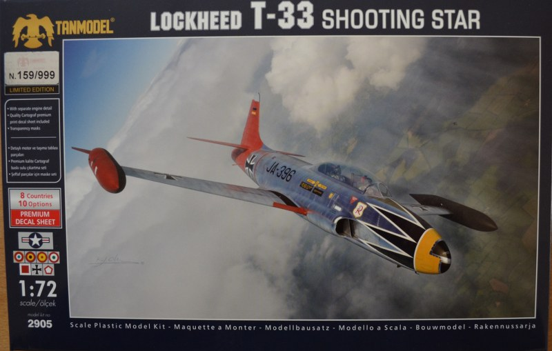 Lockheed T33 Tanmodel Limited Edition